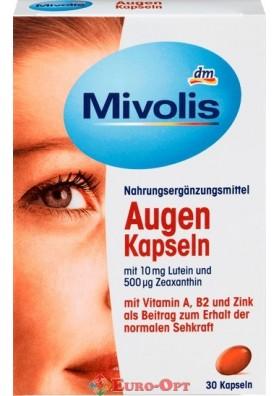 Витаминный Комплекс для Глаз Das Gesunde Plus Mivolis Augen Kapseln 30 caps.