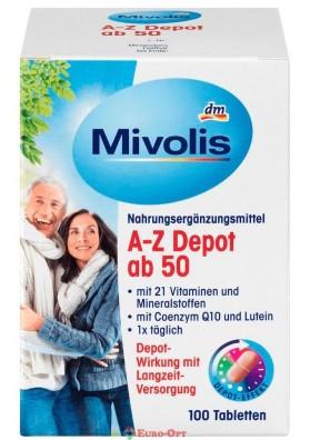 Витаминный Комплекс после 50 лет Mivolis A-Z Kamplett ab 50 100 caps.
