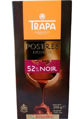 Шоколад Trapa Intenso 52% 200g.