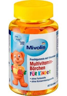 Жевательный Мультивитамин для детей Mivolis Multivitamin-Bärchen für Kinder 60 шт.