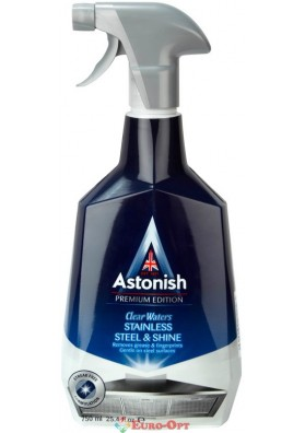 Засіб для Чистки і Полірування Виробів з Нержавіючої Сталі Astonish Stainless Stell & Shine 750ml.