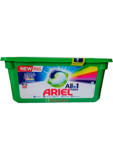 Капсулы для Стирки Ariel Touch of Lenor Color Freshness 26 Pods