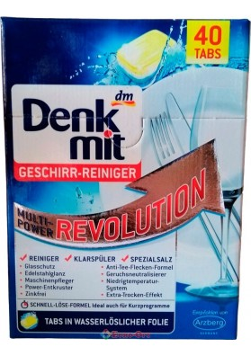 Таблетки для Посудомоечных Машин Denkmit Geschirr-Reiniger Multi-Power Revolution 40 tabs