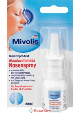 Назальный Спрей от Заложености Носа Mivolis Abschwellendes Nasenspray 20ml.