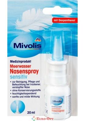 Назальный Спрей с Морской Солью Mivolis Meerwasser Nasenspray Sensitiv 20ml.