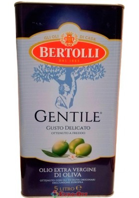 Оливковое масло Bertolli Gentile Olio Extra Vergine Di Oliva 5000ml.