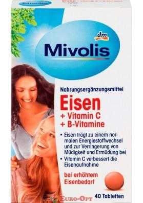Вітамінний Комплекс Mivolis Eisen + Vitamin C + Vitamin B12, Vitamin B6 40 Tabs