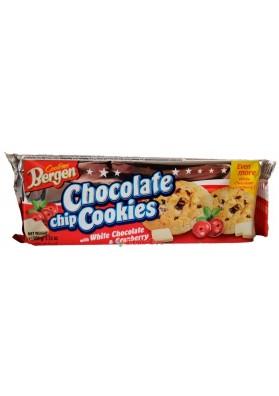 Печенье Bergen Original Cookies с кусочками белого шоколада и клюквой 135г