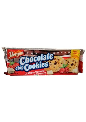 Печиво Bergen Original Cookies з шматочками білого шоколаду і журавлиною 135г