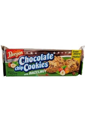 Печиво Cookies Bergen з Шматочками Шоколаду і Фундуком 135g