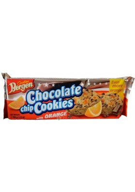 Печенье Bergen Chocolate Chip Cookies with Orange (Апельсин) 150 гр