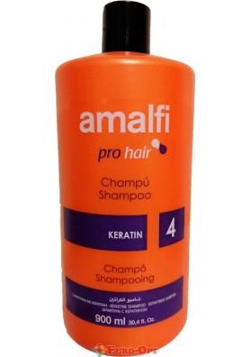 Шампунь Amalfi Pro Hair Keratin (Кератин) 900ml.