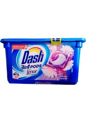 Капсули для прання Dash Lavande 3in1 with Lenor 37 Pods