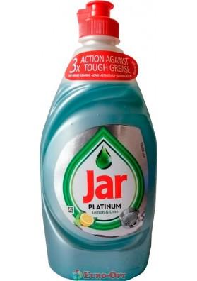 Средство для мытья посуды лимон-лайм Jar Platinum 430ml