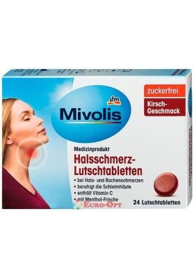 Льодяники від Болі в Горлі Mivolis Halsschmerz-Lutschtabletten 24 Tabs