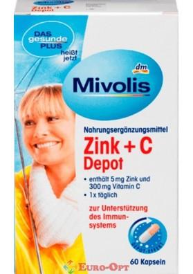 Витаминный комплекс Mivolis Zink+С Depot 60 Kapseln