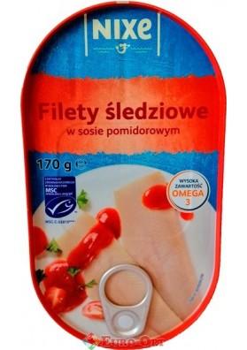 Філе оселедця в томатному соусі Nixe Filety Sledziowe 170g