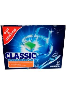 Таблетки для посудомийних машин Gut & Gunstig Edeka Power Classic 60 Tabs