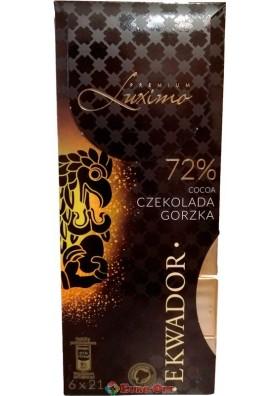 Шоколад черный Luximo Premium Ekwador 72% 126g