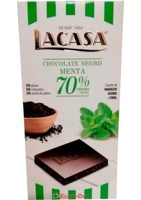 Черный Шоколад Lacasa Chocolate Negro Mint 100g