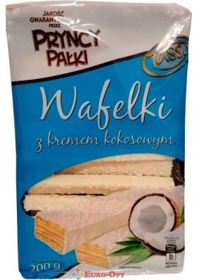 Вафлі з Кокосовим Кремом в Білому Шоколаді Tasso 200g