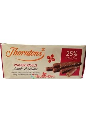 Вафельные Трубочки Thorntons Wafer Rolls Double Chocolate 129g