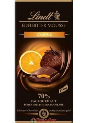 Чёрный Шоколад Lindt Mousse Orange 150g