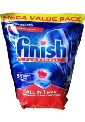 Таблетка для Посудомийної Машини Finish Powerball ALL IN 1 Max 94 tabs