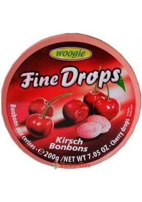 Льодяники зі Смаком Вишні Woogie Fine Drops Cherry Kirsch 200g