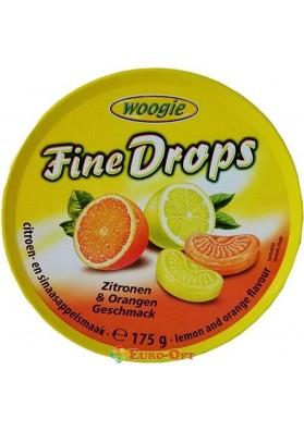 Льодяники Цитрусові Fine Drops Zitronen Orangen Geschmack 175g
