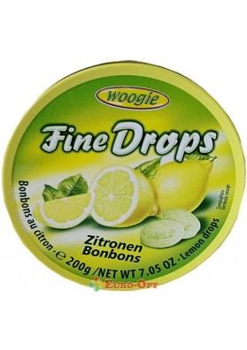 Льодяники з Лимонним Смаком Woogie Fine drops Zitronen 200g