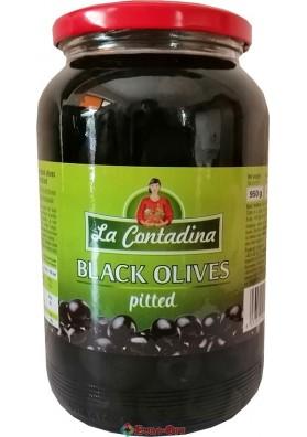 Чёрные Оливки без Косточек La Contandina, 950g